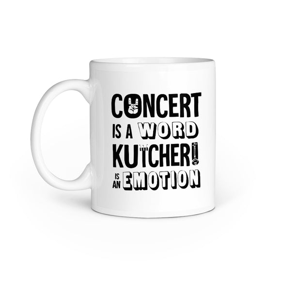 Concert is a Word Kutcheri is an emotion mug - Madras Merch Market