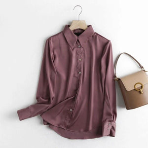 Withered England Style Office Lady Multicolor Fashion Silk Casual Blouse Women Blusas Mujer De Moda 2020 Long Sleeve Shirt Tops