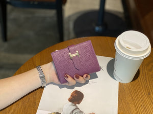 Womens Wallets and Purses Genuine Leather Fashion Short Money Bag Luxury Phone Wallet Luxury Design Hasp Purse Small Wallet