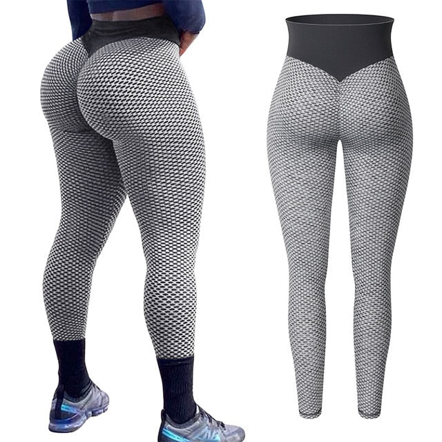 Women High Waist Leggings No See Through Thick Fitness Legging Butt Lift Seamless Legins Workout Gym Scrunch Booty Push Up Pants