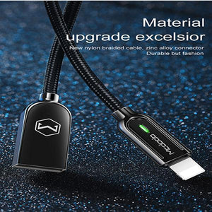 Automatic intelligent power off charging cable