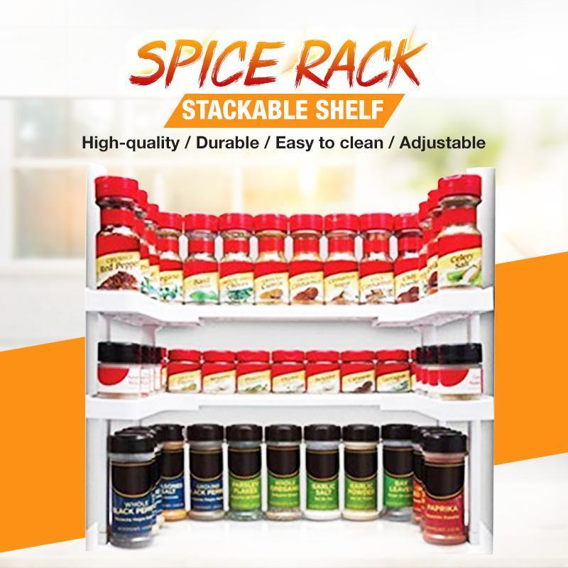 ( Double layer ) Spice Rack and Stackable Shelf(Limited Time Promotion-50% OFF)