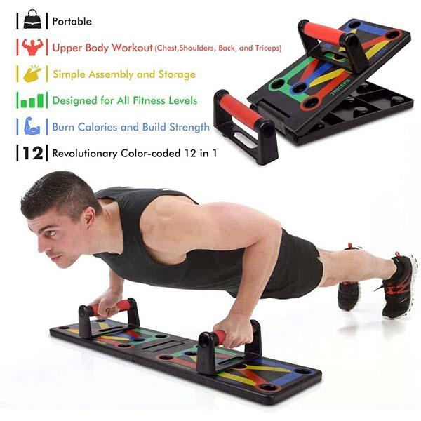 12-in-1 Workout Push-up Stands Body Building Exercise Tools