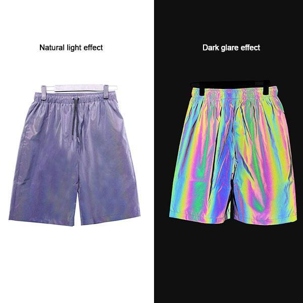 Reflective Fluorescent Shorts for Casual Night Running