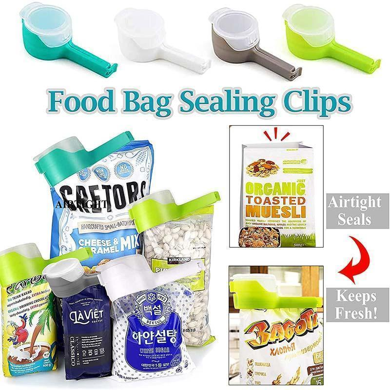 Food Seal With Pocket Clip(4PCS)
