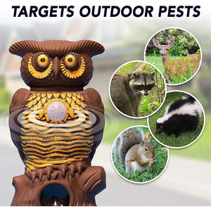 Owl Alarm Flashing Sound Critter Repellent