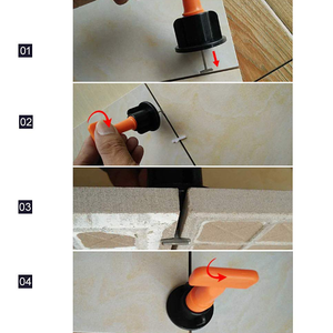 Reusable Tile Leveling System (50 Pcs+1 Wrench)