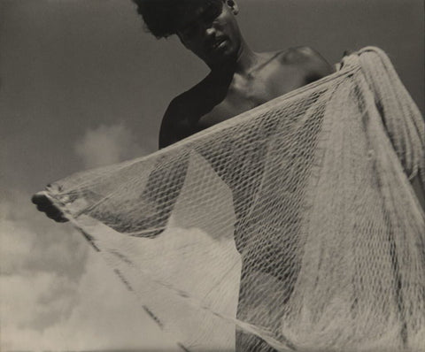 Lionel Wendt, Young Man With Fishing Net (1935)