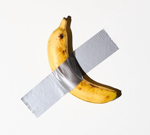 Maurizio Cattelan, Comedian (2019). Banana and duct tape.