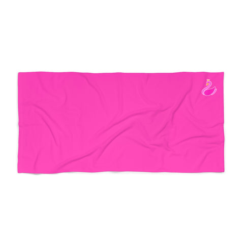 Solid Neon Pink Beach Towel-Home Decor-pnkswn