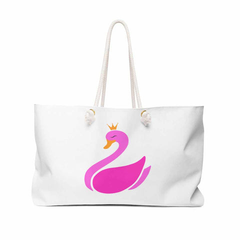 White Weekender Bag with Logo-Bags-pnkswn