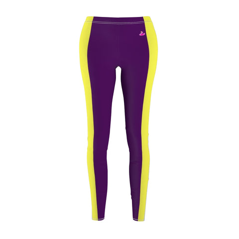 Slimming Stripes Purple Casual Leggings-All Over Prints-pnkswn