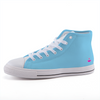 Solid Neon Blue High-top Fashion Canvas Shoes-Shoes-pnkswn