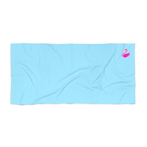Solid Neon Blue Beach Towel-Home Decor-pnkswn