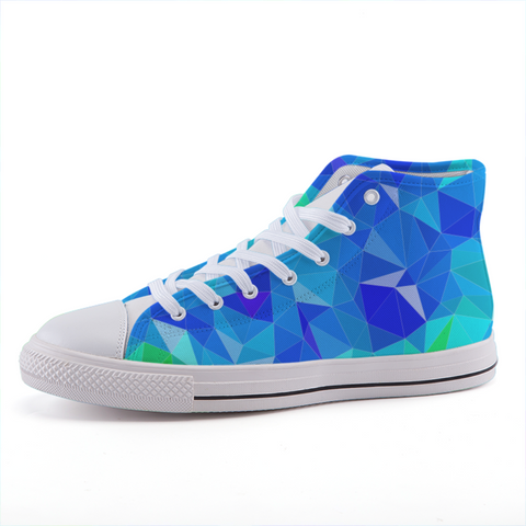 Prism Blue High-top Fashion Canvas Shoes-Shoes-pnkswn