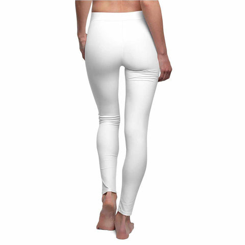 White Casual Leggings-All Over Prints-pnkswn