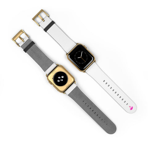 White iWatch Band-Accessories-pnkswn