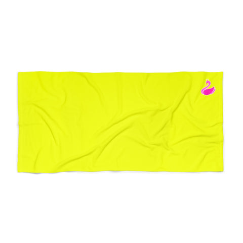 Solid Neon Yellow Beach Towel-Home Decor-pnkswn