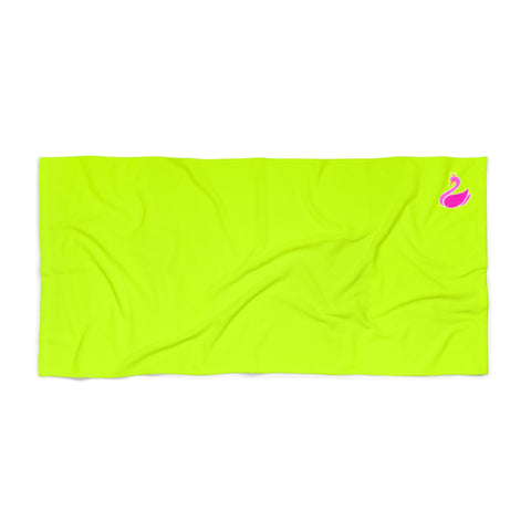 Solid Neon Green Beach Towel-Home Decor-pnkswn