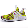 Leopard Yellow n Pink Print Lightweight Sports Shoes-Shoes-pnkswn