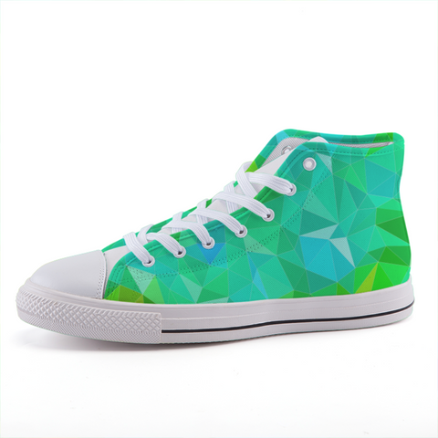 Prism Green High-top Fashion Canvas Shoes-Shoes-pnkswn