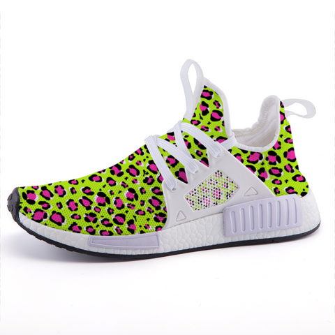 Leopard Green n Pink Print Lightweight Sports Shoes-Shoes-pnkswn