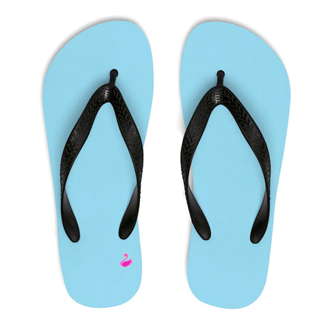 Image of Solid Neon Blue Flip-Flops-Shoes-pnkswn