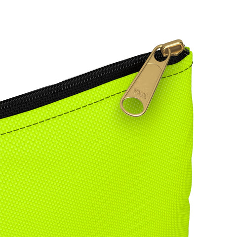 Solid Neon Green Accessory Pouch-Bags-pnkswn