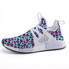 Leopard Blue n Pink Print Lightweight Sports Shoes-Shoes-pnkswn