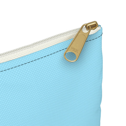 Solid Neon Blue Accessory Pouch-Bags-pnkswn