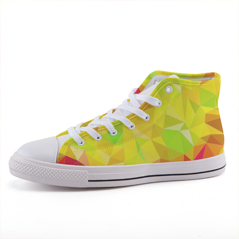 Prism Yellow High-top Fashion Canvas Shoes-Shoes-pnkswn