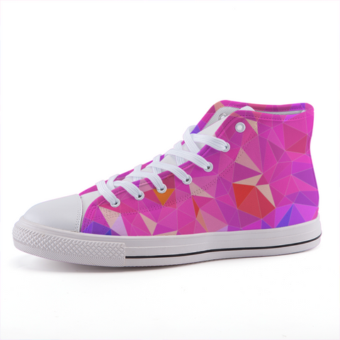 Prism Pink High-top Fashion Canvas Shoes-Shoes-pnkswn