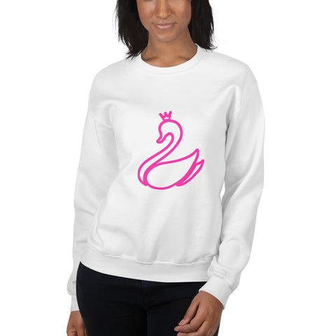 White Unisex Sweatshirt with SWN Logo-pnkswn