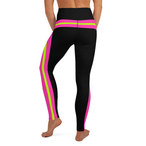 Color Block Black/Green/Pink Yoga Leggings Phaneus-pnkswn