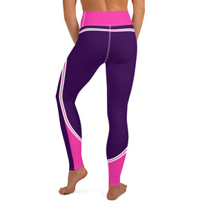 Color Block Purple/Pink/White Yoga Leggings Nessus-pnkswn
