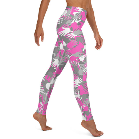 Camo Pink Palms Print Yoga Leggings-pnkswn