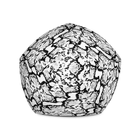 Image of Snake Print B&W Bean Bag Chair w/ filling-pnkswn