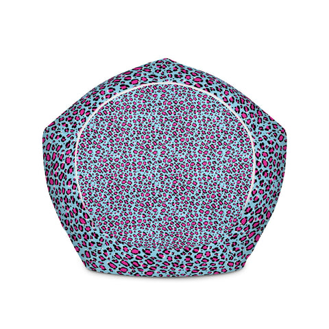 Leopard Blue n Pink Print Bean Bag Chair w/ filling-pnkswn