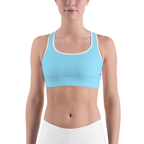 Image of Solid Neon Blue Sports Bra-pnkswn