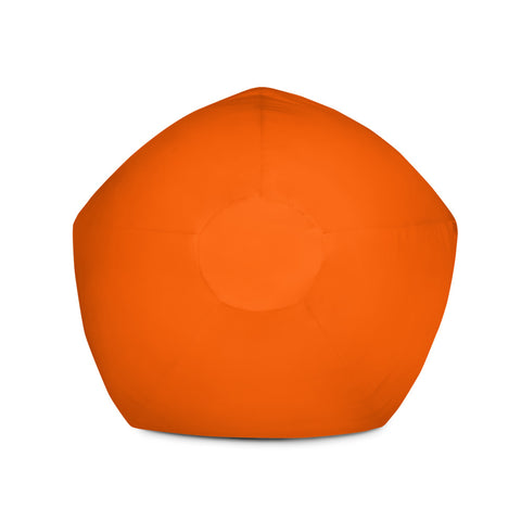 Solid Neon Orange Bean Bag Chair w/ filling-pnkswn