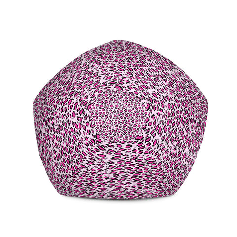 Leopard Pink Print Bean Bag Chair w/ filling-pnkswn