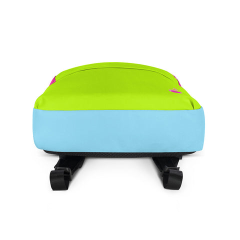 Color Block Neon Green/Pink/Blue Backpack-pnkswn