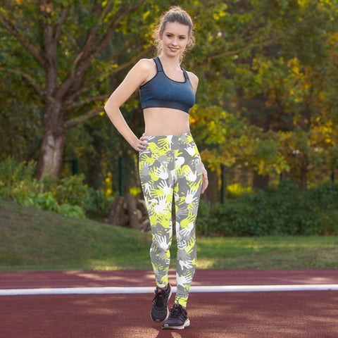 Camo Yellow Palms Print Yoga Leggings-pnkswn