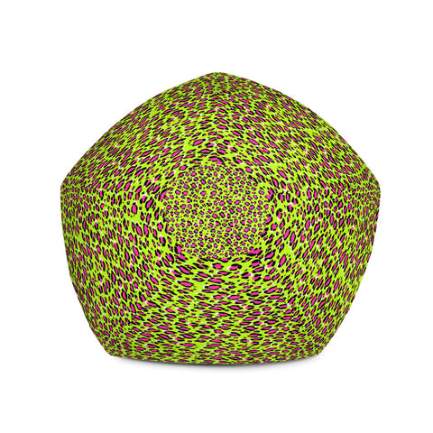 Leopard Green n Pink Print Bean Bag Chair w/ filling-pnkswn