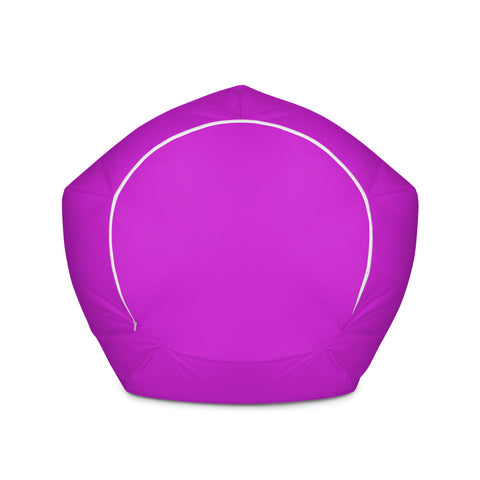 Solid Neon Purple Bean Bag Chair w/ filling-pnkswn