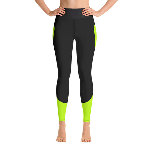Image of Color Block Black/Green/Pink Yoga Leggings Chimera-pnkswn