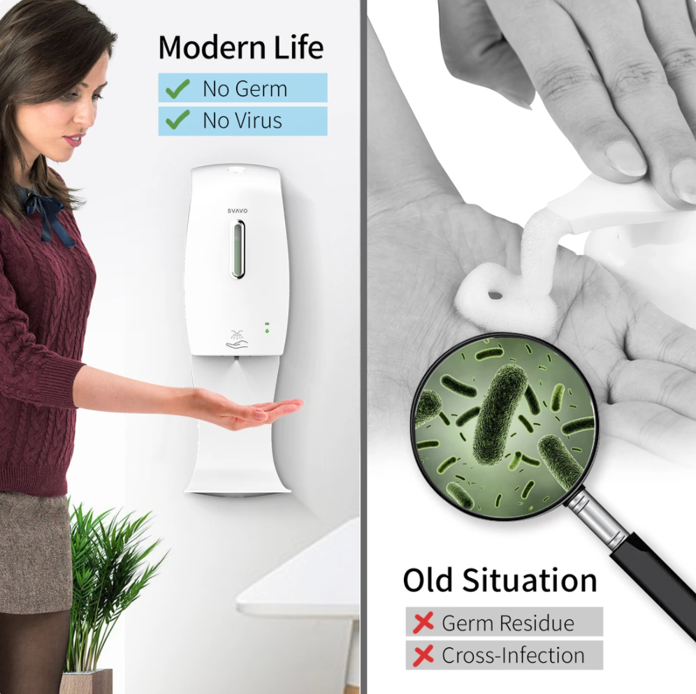 Touch Free Hand Sanitizer Dispenser - Wall Install