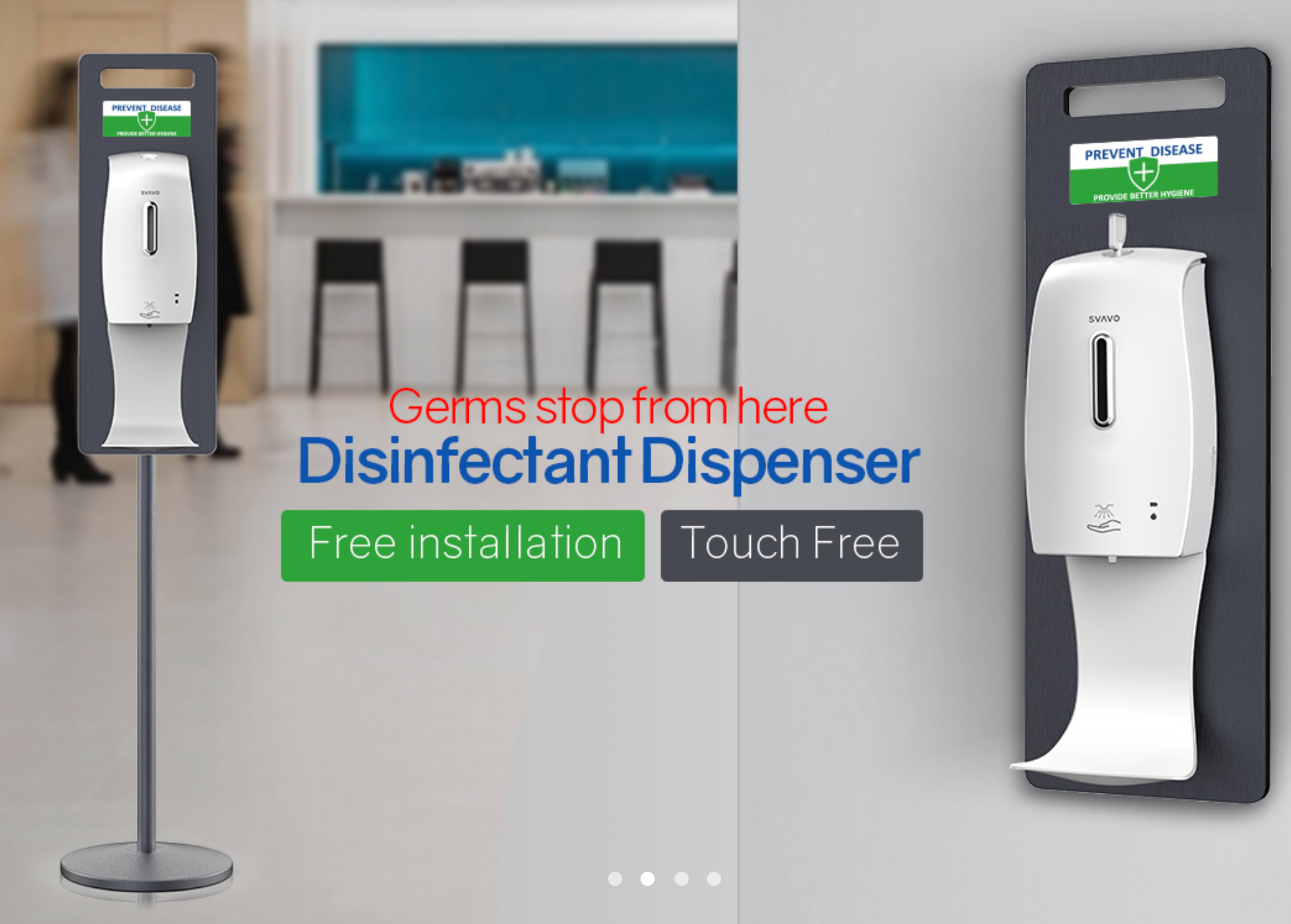 Touch Free Hand Sanitizer Dispenser
