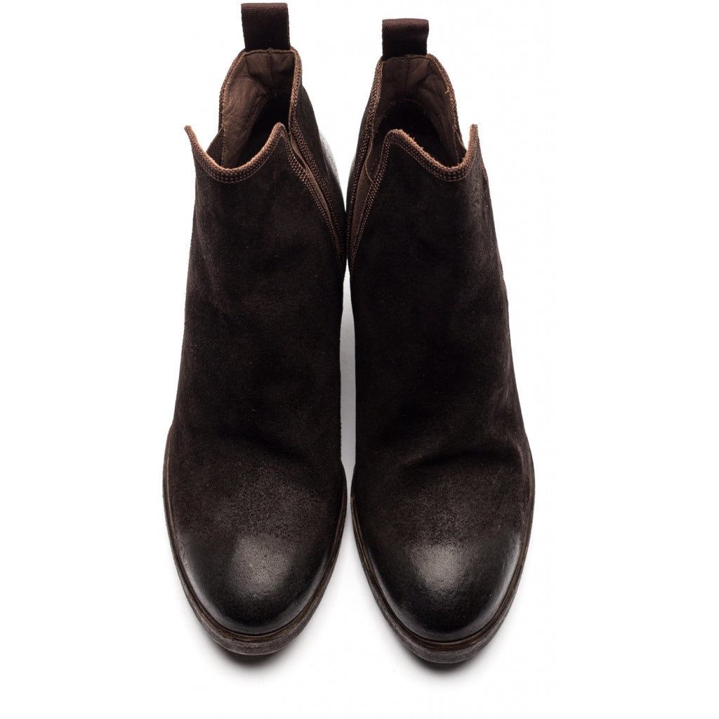the last conspiracy AASE waxed suede Chelsea Boot 081 Mocca