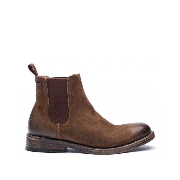 the last conspiracy ADAIR waxed suede Chelsea Boot 079 Dark Tobacco